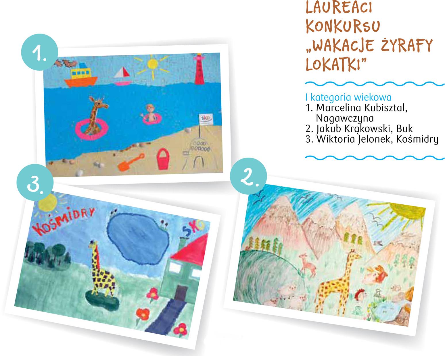 konkurs wakacje żyrafki Lokatki
